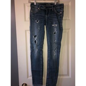 Ripped Tuesday fit Silver Jeans